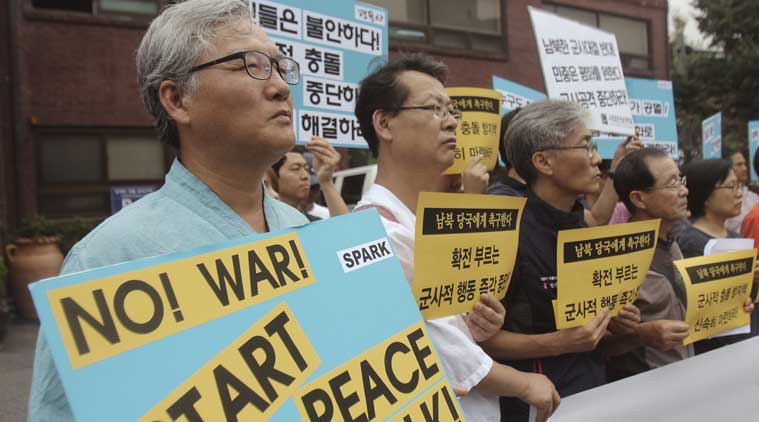 north korea, south korea, koreas tension, kim jong un, koreas war, korea declares war, north korea declares war, kim jong un, korea protests, koreas protest, korea news, north korea news, south korea news, world news