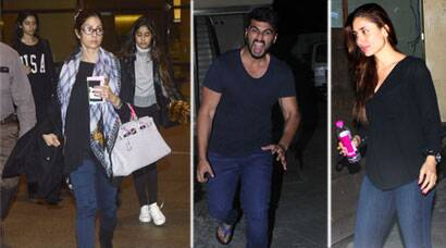 Friday Spotting: Kareena, Arjun meet R Balki, Sridevi with daughters at airport