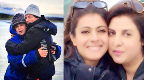 Of hugs and friendship: Farah Khan posts pictures with Shah Rukh Khan and Kajol
