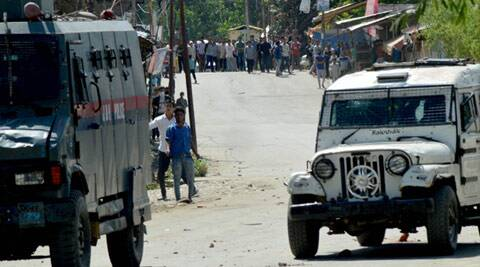 Youths indulge in stone-pelting in Kashmir valley