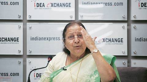 Sumitra Mahajan, Congress MPs suspended, Congress LS MPs suspended, Sumitra Mahajan suspended Congress MPs, Bjp government, nda government, Sushma Swaraj, Vasundhara Raje, Shivraj Singh Chouhan, Lalit modi row, Lok Sabha MPs suspended LS speaker Sumitra Mahajan, indian express idea exchange, idea change indian express, indian express, india news, nation news
