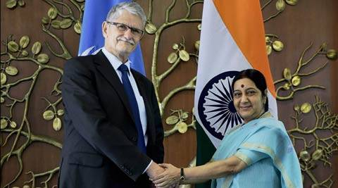 India pitches for UN reforms, terror fight