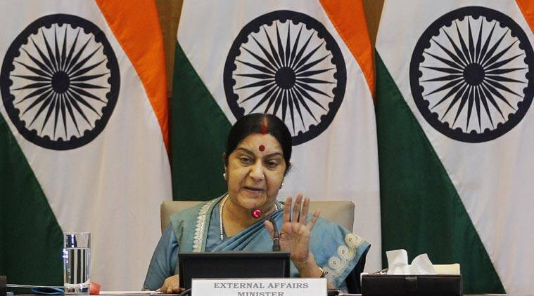 sushma swaraj, arab world, swaraj arab world, indians in arab world, palestine conflict, palestine israel issue, india news