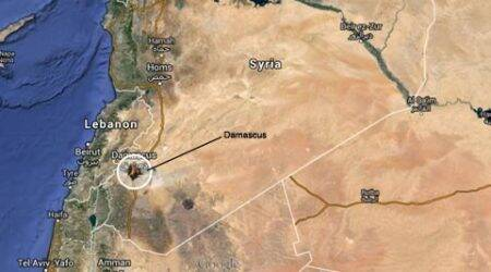 Airstrikes in Syria kill at least 80 in rebel-held capitalDamascus