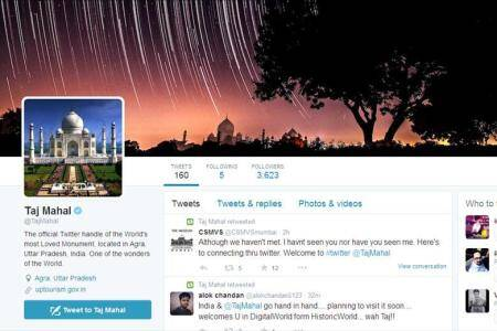 Taj Mahal, Internet, Twitter, @TajMahal, official twitter account of Taj Mahal, social media, technology news