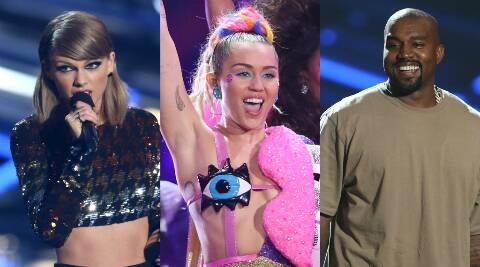 Taylor Swift, Miley Cyrus, Kanye West, VMAs 2015