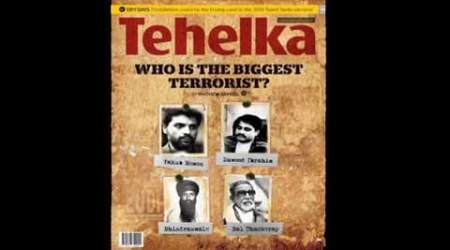 The cover of the Tehelka magazine.