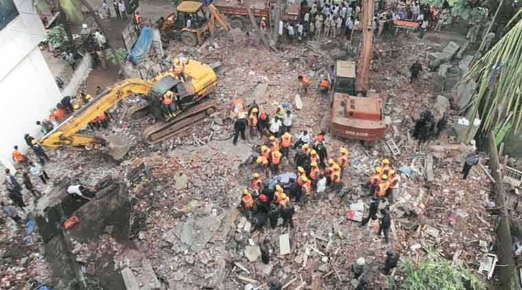 Thane building collapse, thane building, mumbai news, building collapse thane, thane news, maharashtra news, india news