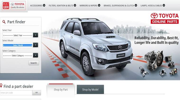 Toyota Opens Online Spare Parts Store In India The
