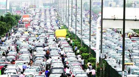 car free day, car free tueday,delhi traffic, cyber city traffic, delhi traffic system, delhi news, indian express