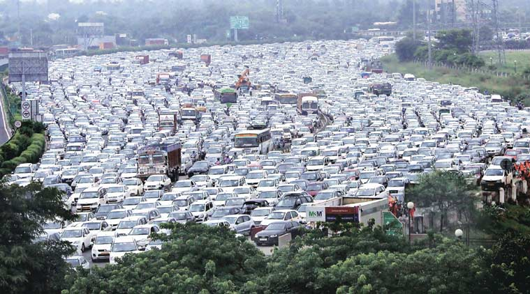Gurgaon traffic, Car free day, Gurgaon car free day, Gurgaon traffic news, Gurgaon traffic congestion,