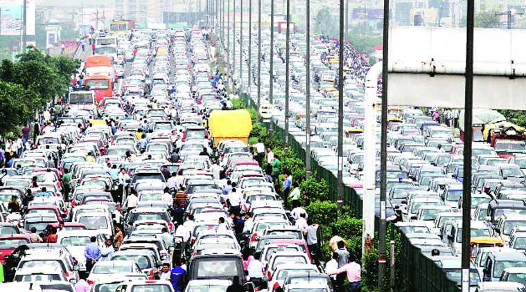 traffic, traffic jam, delhi traffic, delhi traffic jam, annual kanwar yatra, delhi traffic police,  NCR police, gurgaon traffic police, delhi news, indian express