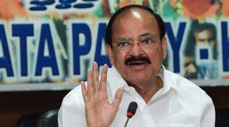 M Venkaiah Naidu slams Congress over land Bill criticism