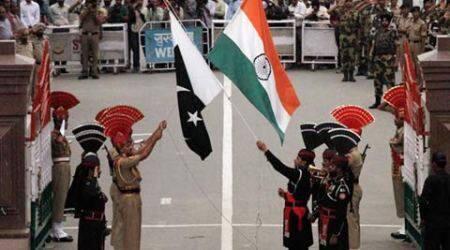 Wagah border, pakistan flag, tallest indian flag