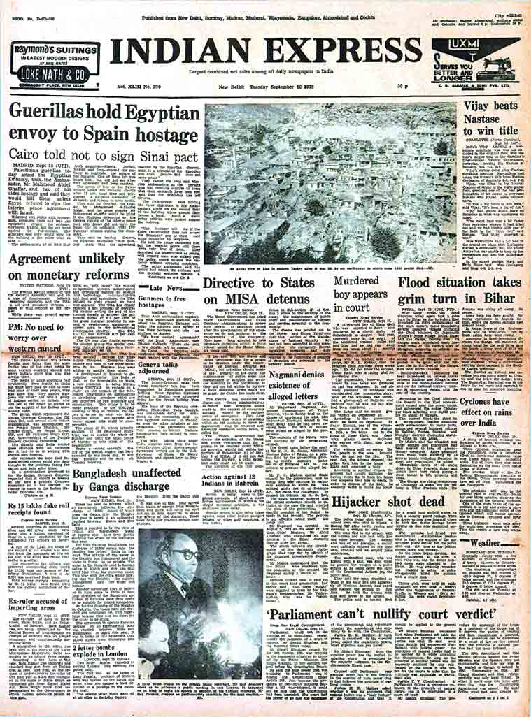 israel, palestine, palestine took hostages, egypt hostage situation, raj narain, Vijay Amritraj, Vijay Amritraj tennis, indira gandhi, india news, forty years ago, indian express