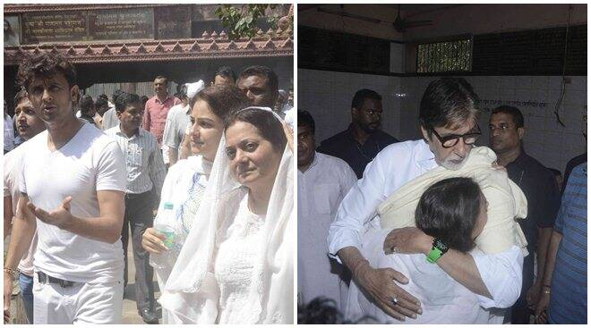 Big B, Anil Kapoor and others bid adieu to Aadesh Shrivastava; wife Vijayta and son are inconsolable