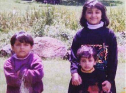 Parineeti Chopra, parineeti chopra brothers, Parineeti Chopra childhood picture
