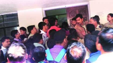 Chaos at admission centre: officials flee angry parents