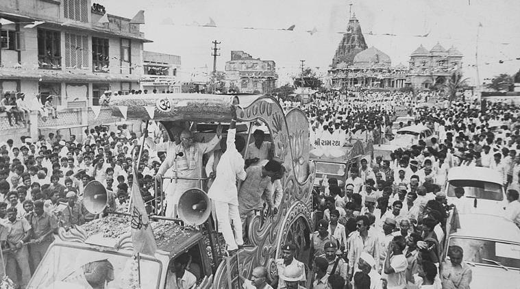 Image result for advani rath yatra