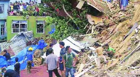 Aizawl, Aizawl landslides, landslide affected families, Aizawl landslide affected families, Laipuitlang landslide, Aizawl news, Nation news