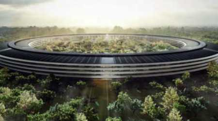 Apple, Apple spaceship campus, Apple Campus 2, Drone flyby of Apple Campus 2, Apple spaceship campus 175 acres, Apple Campus 2 Cupertino, California, Apple news, DJI Inspire, quadcopter, drones, tech news, technology