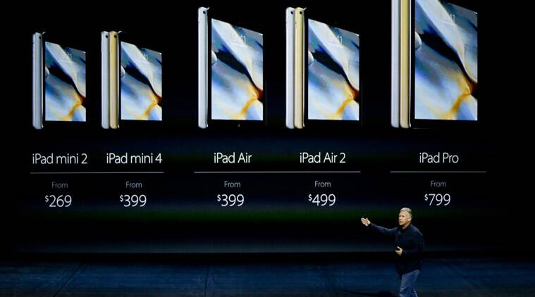 Apple iPad Pro, Apple iPhone, Apple iPad Pro launch, Apple iPad news, iPad launch news, iPhone 6, iPhone 6s, Apple TV, tvOS, Tim Cook, Apple CEO, MacBook Air, Apple iOS device launch, Apple Pencil, Apple CEO, Tim Cook, GoPro Viewfinder, Technology news, The indian Express