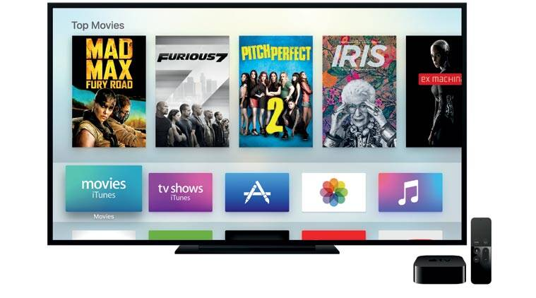 Apple TV with Siri Remote guns for the living room