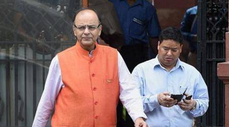 New Delhi : Union Minister for Finance Arun Jaitley leaves after a Cabinet meeting in New Delhi on Tuesday. PTI Photo by Shirish Shete (PTI9_22_2015_000138A)