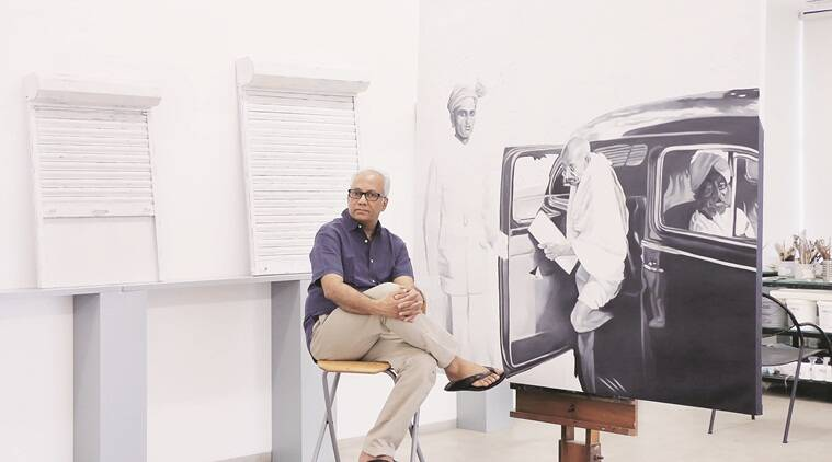 Atul Dodiya with works from his current show