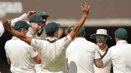 Cricket - England v Australia - Investec Ashes Test Series Second Test - Lord?s - 19/7/15 Australia players celebrate the wicket of England's Ben Stokes  Action Images via Reuters / Andrew Couldridge