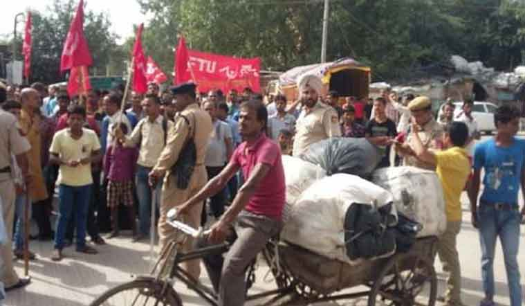 bharat bandh, trade union strike, strike, nationwaide strike, bharat bandh live, all india strike, india strike, transport strike, bandh, bharat band, nationwide strike, bihar, bengal, protest, trade union, trade union strike