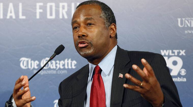 Republican presidential candidate Ben Carson (Source: AP photo)