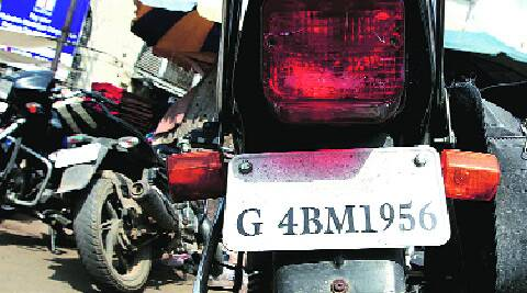 Rajkot police all set to peel off caste stickers from vehicles the indian express