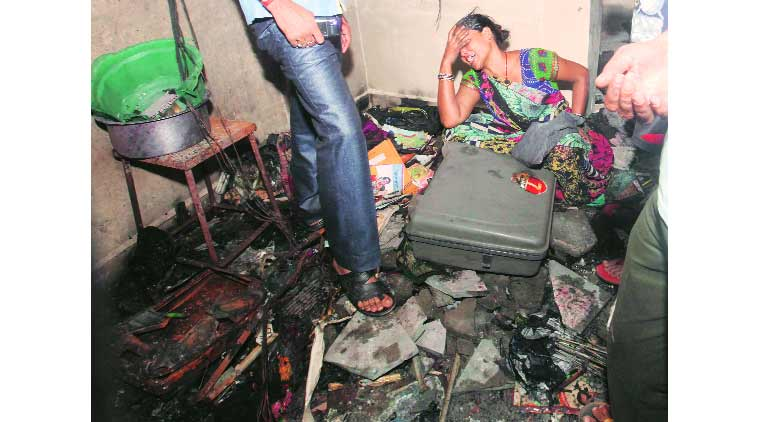 cylinder blast, blast, murder, crime, mumbai news, indian express
