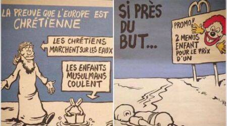 Charlie Hebdo publishes Syrian toddler Aylan Kurdi's cartoon in latest cover