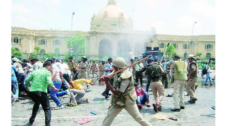 BPEd degree, cop clash, clash, crime, lucknow news, indian express