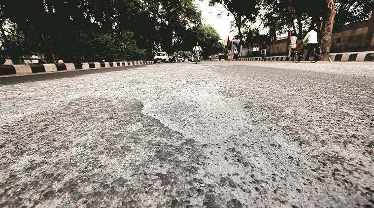 delhi, delhi roads, delhi road conditions, condition of delhi roads, roads in delhi, road conditions in delhi, delhi news, india news, indian express