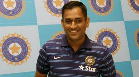 Captain Mahendra Singh Dhoni address a press conference in Mumbai ahead of India's tour of England. Express Photo by Vasant Prabhu. 21.06.2014.