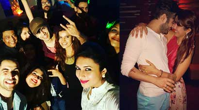 Divyanka Tripathi parties with 'Yeh Hai Mohabbatein' co-star Karan Patel, his wife Ankita Bhargava