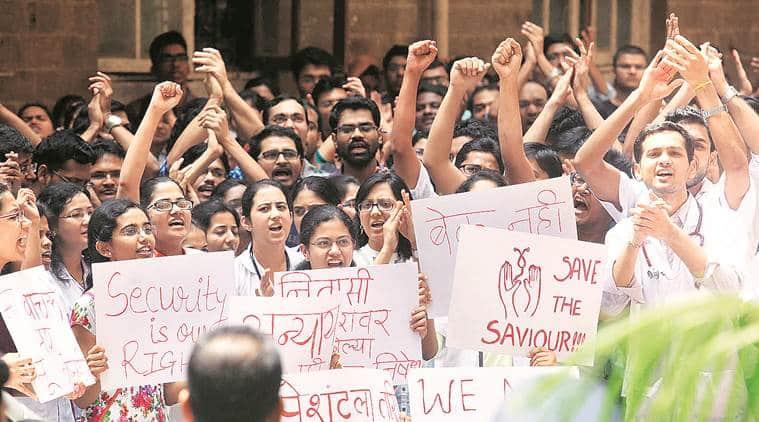 doctor strike, KEM doctor strike, security strike, CCTV strike, doctor security strike, mumbai news, indian express