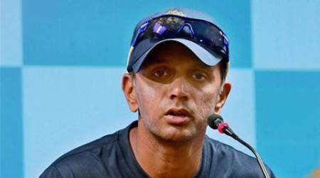 Bengaluru : India 'A' Coach Rahul Dravid addressing a press conference in Bengaluru on Tuesday, a day before the 1st unofficial ODI match against Bangladesh 'A'. PTI Photo by Shailendra Bhojak(PTI9_15_2015_000073A)