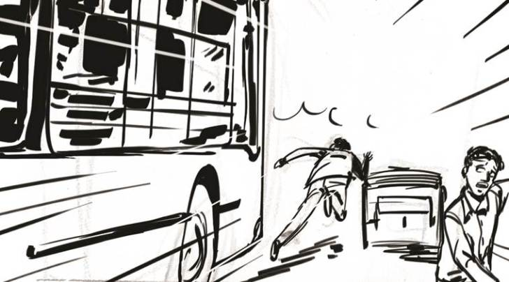 driver, DTC driver, accident, DTC buses, delhi news, indian express