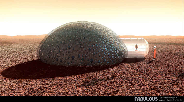 Mars, 3D printed shelter, Sfero, 3D printed shelter for Mars astronauts, Mars astronauts, 3D printed habitat for Mars astronaut, fabulous, french firm, Red planet, science, space, science news, tech news, technology