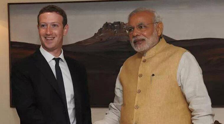 Prime Minister Narendra Modi will visit Facebook headquarters during his US visit. (Source: Mark Zuckerberg's Facebook page)