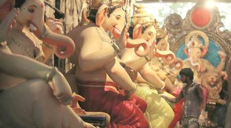 Malin villagers in temporary homes welcome Ganesh