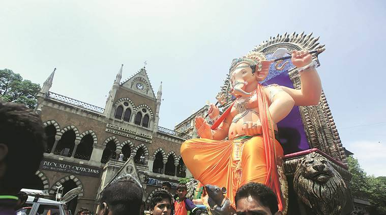 Bombay high court, ganesh festival, ganeshotsav, CM Devendra fadnavis, fadnavis relief fund, Ganesh pandal violators, mumbai news, indian express