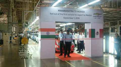 General Motors rolls out first vehicle for export from Talegaon Dabhade plant