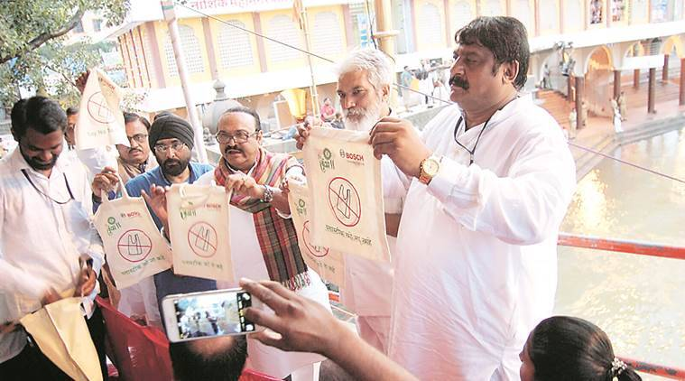 Green Kumbh, plastic bag, cloth bag, green kumbh cloth bag, cloth bag, environment, harit kumbh, kumbh mela, recycling, recycled bags, mumbai news, indian express