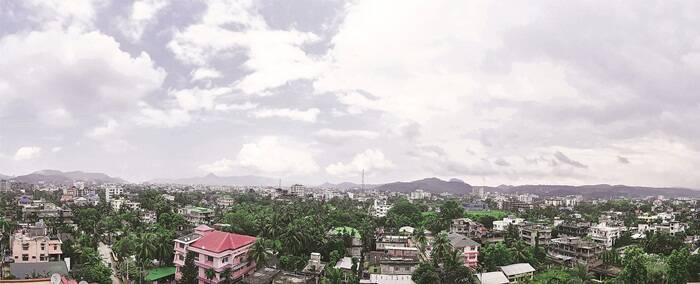 A panoramic view of Guwahati