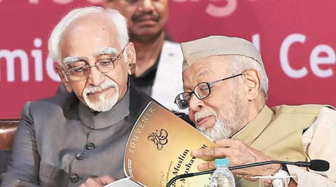 Hamid Ansari, Muslims, Indian Muslims, Muslim community, Muslim minority, Vice President Hamid Ansari, Sabka Saath, Sabka Vikas, inclusive development, india news, nation news